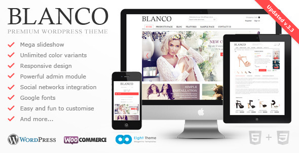 Blanco - Responsive WordPress Woo/E-Commerce Theme (шаблон)