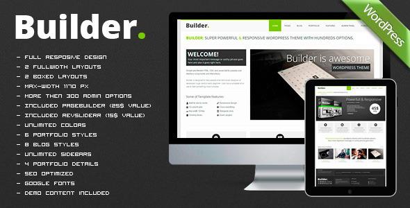 BUILDER — адаптированная многозадачная WP тема