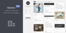 Spaces - шаблон для блога