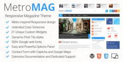 Metro Magazine — адаптированная тема для WordPress