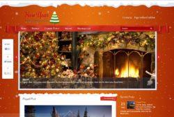 NewYear - праздничная wordpress тема