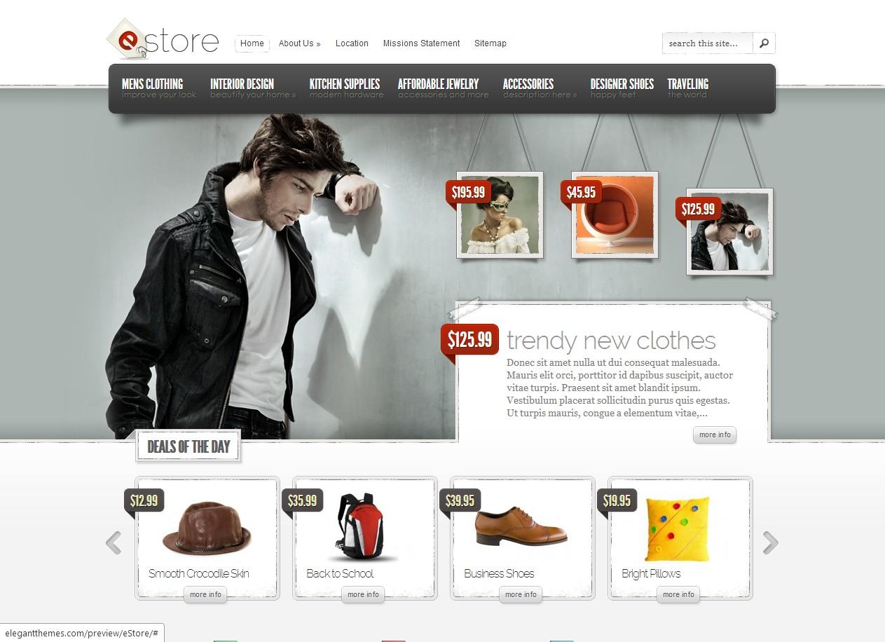 eStore - тема web торговый центр