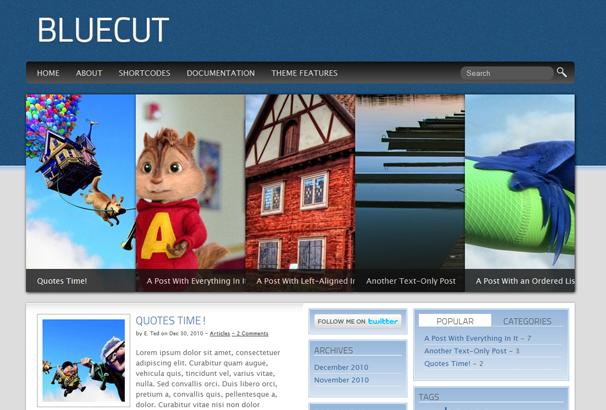 Шаблон Bluecut | Theme Bluecut
