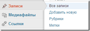 Записи WordPress