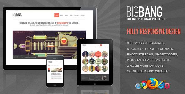 Шаблон BigBang | Theme BigBang