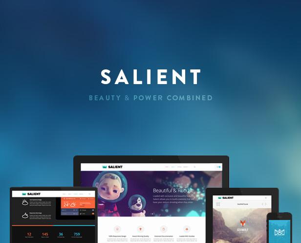 Шаблон Salient | Theme Salient