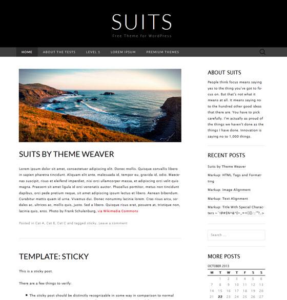 Шаблон Suits | Theme Suits
