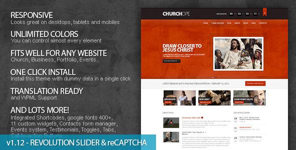 Шаблон ChurcHope | Theme ChurcHope