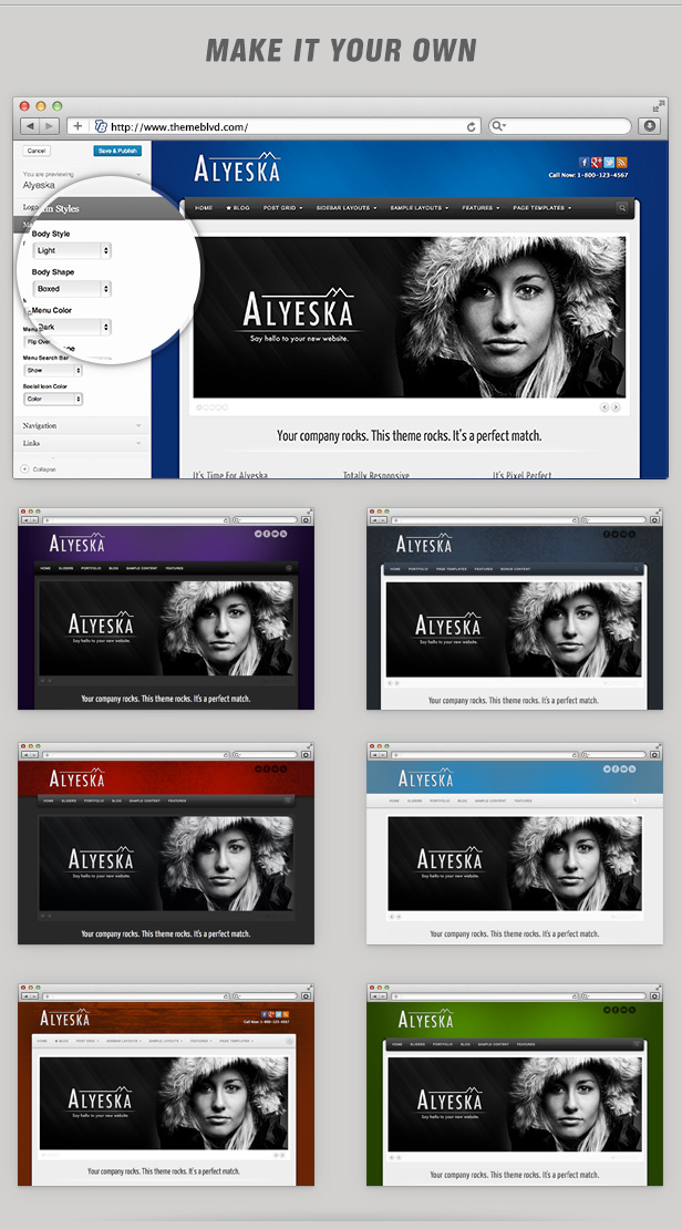 Шаблон Alyeska | Theme Alyeska