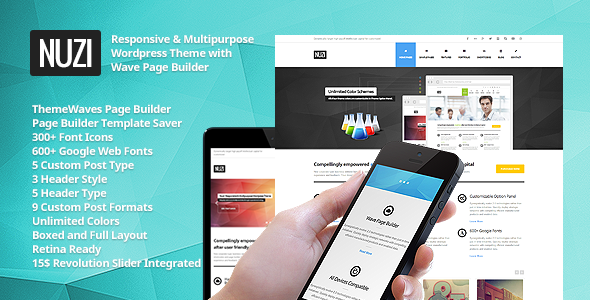 Nuzi - Multipurpose, Retina Ready, Business Theme