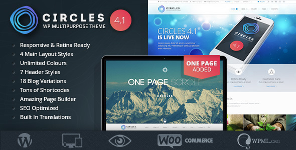 Responsive WordPress MultiPurpose Theme - Circles