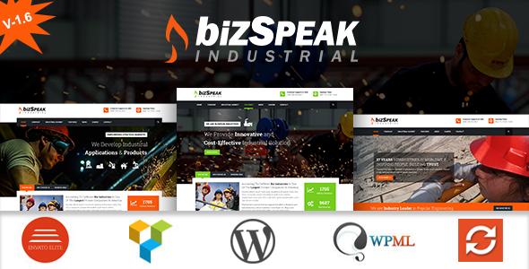 BizSpeak - Responsive Industrial WP Theme