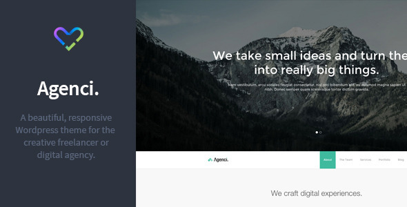 Agenci - One Page Responsive WordPress Theme