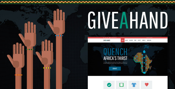 GiveAHand - Charity Responsive WP Theme
