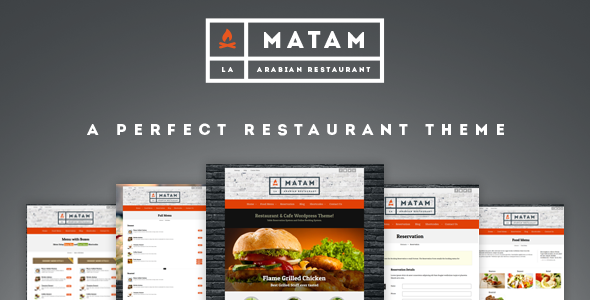 Mataam Restaurant - Responsive Wordpress Theme