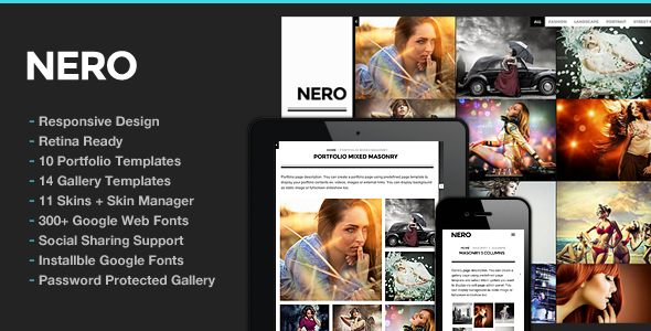 Nero Responsive Portfolio Photography Theme