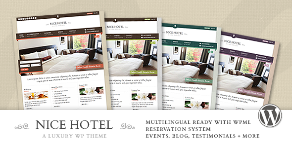 Nice Hotel - WordPress Theme