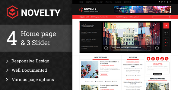 Novelty Magazine WordPress theme