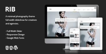 RIB - Responsive Photography WordPress Theme