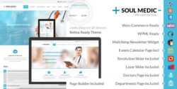 SoulMedic Flat Responsive Medical & Health Theme