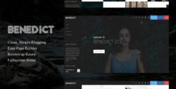 Benedict - Creative Side Navigation Blog/Portfolio Theme