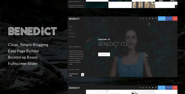 Benedict - Creative Side Navigation Blog/Portfolio Theme