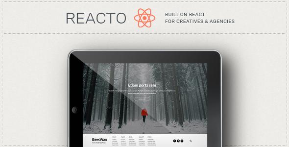 Reacto Photography / WordPress Portfolio Theme for Creatives
