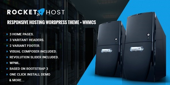 RocketHost - Responsive Hosting WordPress Theme + WHMCS