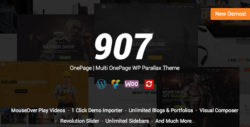 907 - Responsive WP One Page - Multi One Page Parallax