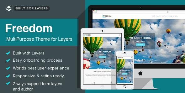 Freedom - Layers Multipurpose WordPress Theme