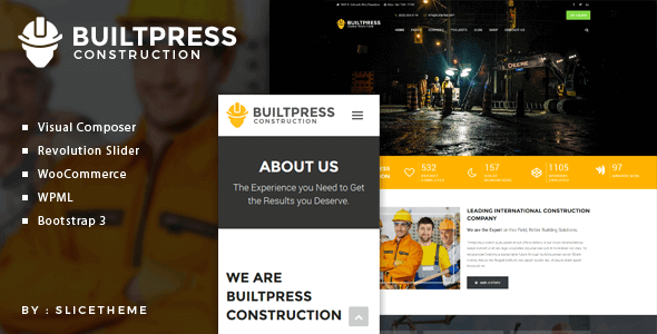BuiltPress - Building Construction WordPress Theme