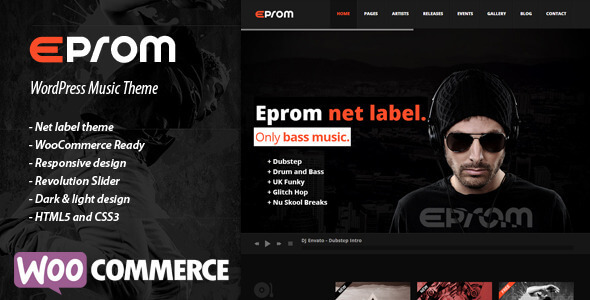 Eprom - WordPress Music Band & Musician Theme