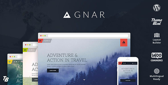 Gnar - Action, Adventure & Travel WordPress Theme