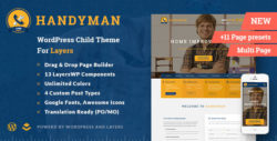 Handyman - Craftsman Business WordPress Theme