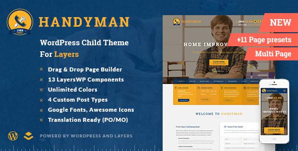 Handyman - Craftsman Business WordPress Theme