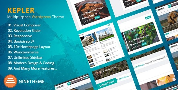Kepler - Responsive WordPress News / Magazine Theme