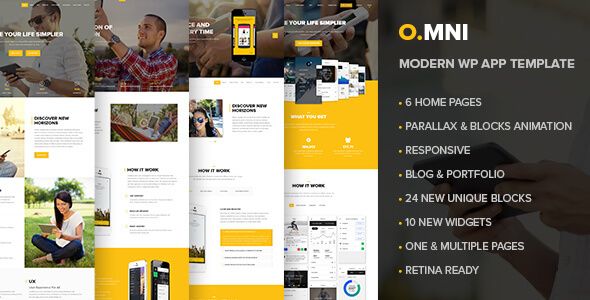 Omni - Powerful One and Multipage App WP Theme