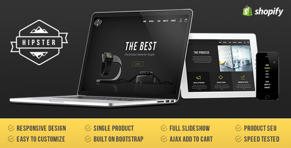 Hipster - Single Product Shopify Theme