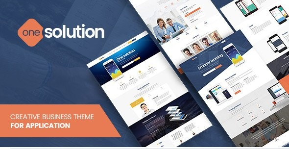 OneSolution - Application Showcase WordPress Theme