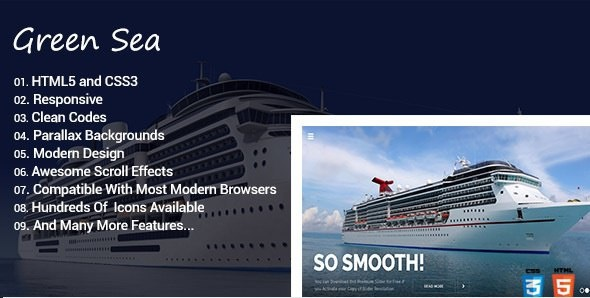Greensea - Creative Onepage Template