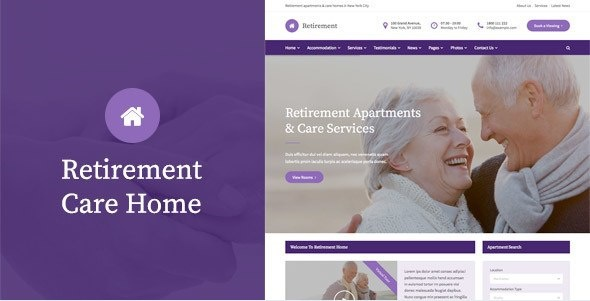 Retirement Care Home - HTML Template