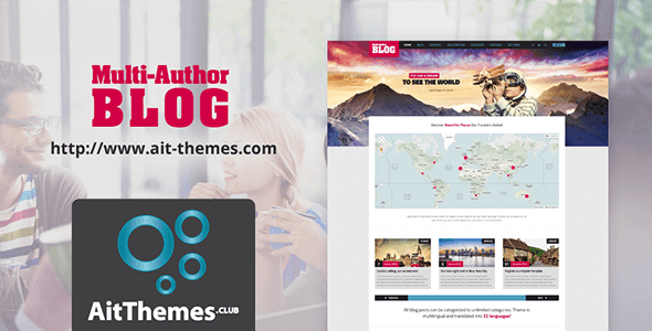 Multi-Author WordPress Blog Theme