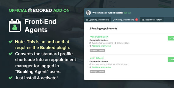 Booked Front-End Agents (Add-On)