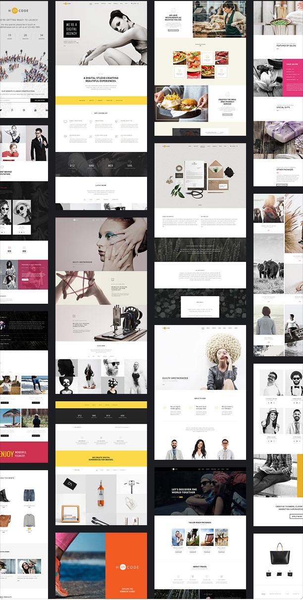 H-Code Responsive & Multipurpose WordPress Theme